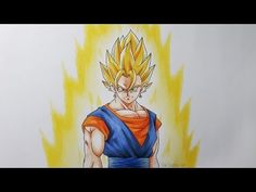 Drawing Vegito Super Saiyan - YouTube