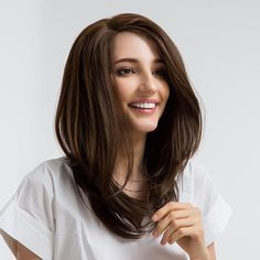 NEER Közepes hosszúságú Oldalt elválasztott elegáns egyenes szintetikus paróka Long Hair Styles, Beauty, Beleza, Long Hair Hairdos, Cosmetology, Long Hairstyles, Long Hair Cuts, Long Hair, Long Haircuts