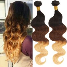 """Hot!!! 26""""28""""30"""" Ombre Brazilian Human Hair 300g For Full Head Body Wave New  #WIGISS #Ponytail"""