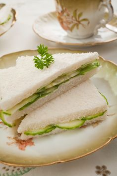 lovely tea sandwiches (link gives a menu suggestion)