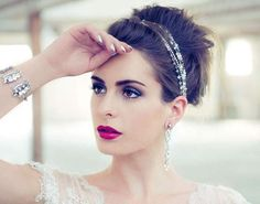 maquillaje dramatico para la novia