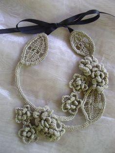 Crochet Necklace Free pattern: A Blackberry Design