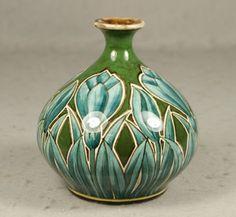 Royal Bonn Crocus Vase nouveau lines pottery ceramics clay