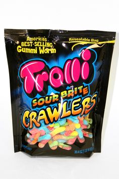 Trolli Sour Brite Crawlers. Sour gummy worms are amazing while hiking!