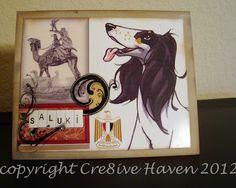 Handmade card featuring the Saluki