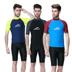 75f68f05ce49 SBART 1PC Rash Guards Men Short Sleeve Sailing Surfing T Shirts Male  Swimwear Swimming Tops Wetsuits