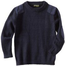 Eddie Bauer Boys 2-7 Commando Sweater With Elbow and Shoulder Patches