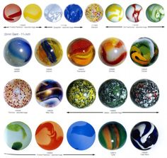Machine Made Glass Marbles - 1980 to Current