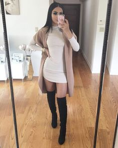 Flawless Fall Outfits For Women This season ~ Fashion & Design - Fall Outfit - Cute Casual Outfits, Winter Fashion Outfits, Autumn Fashion, Girl Outfits, Winter Night Outfit, Dress Winter, Teenager Outfits, Looks Party, Night Out Outfit