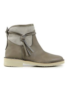 Womens booties with canvas in earth by Wills London