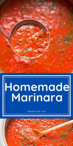 Skip the jarred stuff, a homemade marinara sauce is the way to go! This simple pasta sauce has many uses and it's incredibly simple to make! Yummy Pasta Recipes, Vegetarian Recipes Easy, Sauce Recipes, Lunch Recipes, Best Sauce Recipe, Easy Pasta Sauce, Good Food, Yummy Food, Homemade Marinara