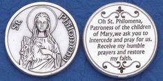 Silver Plated Religious Pocket Coin 1 & in diameter. Larger than a quarter. Saint Philomena, Catholic Store, Saint Matthew, Coins, Faith, Pocket, Larger, Amp, Silver