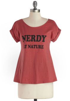 Geek Chic Tee - Red, Black, Casual, Short Sleeves, International Designer, Mid-length, Jersey, Cotton, Knit, Novelty Print, Scoop