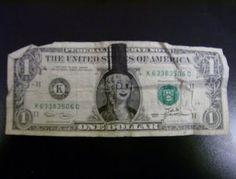 money, dollar, bill, planters peanut guy, art