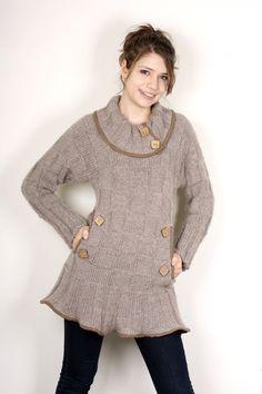 30 Off Alpaca mini dress I Designer knitwear by AlexKnitwear, $162.00