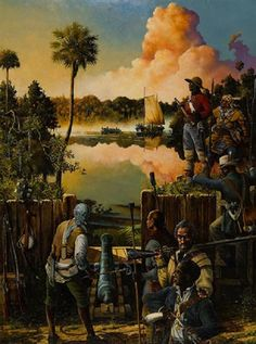 The #Battle of Negro Fort was a short military siege during 1816 in which forces of the United States assaulted and managed to blow up African-American fortified stronghold in the frontier of northern Spanish Florida. The act was the first major engagement of the Seminole Wars period and was the