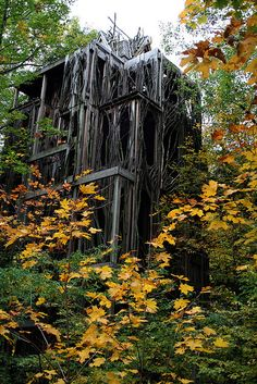 Six Story Tree House in Ithaca, NY at the Cayuga Nature Center.