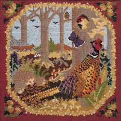 Woodland needlepoint kit from the Natural History collection