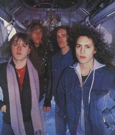 Lars Ulrich, James Hetfield, Kirk Hammett and Clif Burton (Metallica)