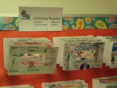 Tunnel book of California Regions - picture only 3rd Grade Social Studies, Teaching Social Studies, Teaching History, 4th Grade Classroom, Classroom Walls, Math Classroom, Classroom Ideas, California Regions, California History