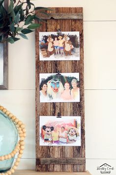 We all have tons and tons of photographs that we would like to display and Gina from The Shabby Creek Cottage has a perfect DIY for a Barn Wood Photo Frame that will allow you to display more than one and the BEST thing is is that you can change the photos continuously without reframing! …