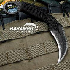 Say hello... To the Schwartz Tactical Carbon Fiber Titanium LYNX karambit! Pick yours up today...http://www.karambit.com/shop/custom-karambits/custom-fixed-karambits/schwartz-tactical-carbon-fiber-titanium-lynx-karambit/