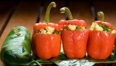 Paneer-stuffed peppers (vegetarian)