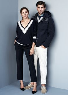 Our favorite fashion pair, Olivia Palermo and Johannes Huebl for #TommyHilfiger