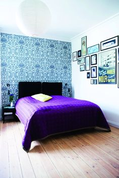 Nice way to use different pictures, and Cole & Son Malabar