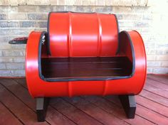 'Sweet seat' recycled drum barrel.
