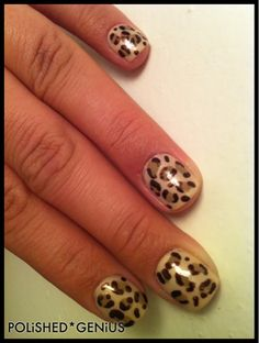 Leapord print nails for Artsy Wednesday