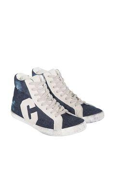 COLORADO DENIM Damen »High Top Sneaker« für 89,95€. Damen Sneaker, Schnürung, Vintage Optik, Gepolsterter Schaftrand, Seitlich aufgenähtes Logo bei OTTO