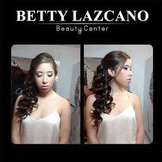 Maquillaje y peinado en Betty Lazcano