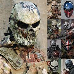 Typhoon Camouflage Tactical Outdoor Military Wargame Motorcycle Airsoft Skull Full Face Mask Masks - Gogobomo Gear - 1