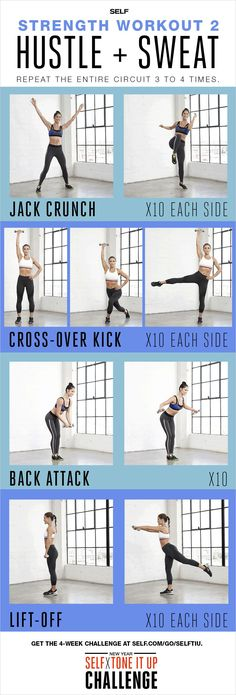 Total-Body Strength-Training Workout - Self x Tone It Up Challenge – Hustle + Sweat