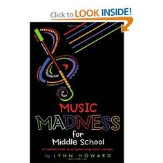Music Madness for Middle School ..... An interesting middle school general music curriculum