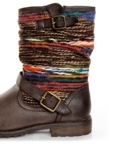 These boots would be so cute with a pair of red skinny jeans, and a cream sweater!