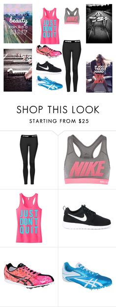 """""""Track"""" by kitty-dragon-w on Polyvore featuring Topshop, NIKE and Asics"""