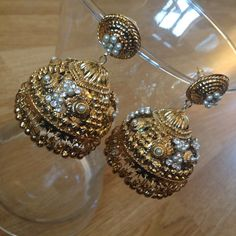 Indian Jumki earrings by SokoraJewellery on Etsy