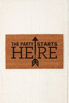 4040 Locust Party Started Door Mat - Urban Outfitters
