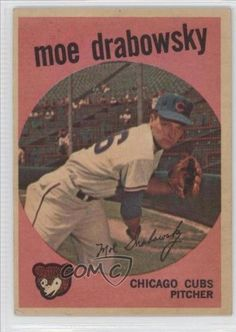 Moe Drabowsky COMC REVIEWED Good to VG-EX Myron W. Drabowsky, Chicago Cubs…