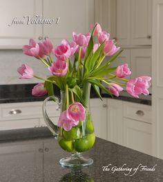 Ladies Luncheon: Tulips and Limes TheGatheringofFriends.com #spring #tablescapes #centerpiece