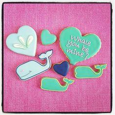 """Whale you be mine"" Valentine's cookie packs now available @saltologie in Jacksonville Beach ♡ #sugarcookies #decoratedsugarcookies #royalicing #royalicingcookies #customcookies #valentinescookies #valentinesdaycookies #nauticalvalentinescookies #nauticalvalentines #nauticalcookies #whalecookies #whaleyoubemine #heartcookies #valentinesday #shoplocaljax #instabaking #instacookies #cutecookies #cookieoftheday #neoncookies @shopsmalljax"