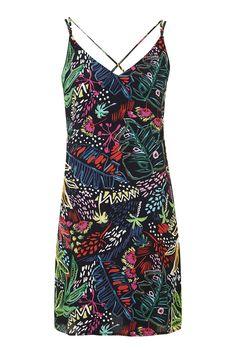 Jungle Print Slip Dress