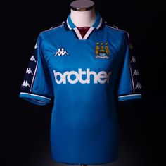 1997-99 MCFC Laser Blue Kappa Home Shirt
