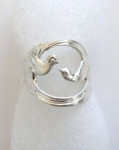 Sterling Silver Double Bird Ring