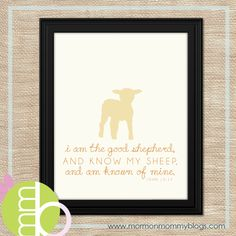 The Good Shepherd Free 8x10 Printable | Mormon Mommy Printables
