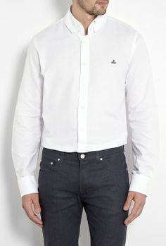 White Oxford Krall Collar Shirt by Vivienne Westwood  #PackforParadise Enter Here: http://budurl.com/PackforParadise