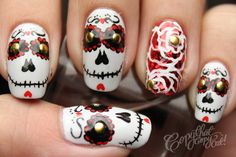 Copy That, Copy Cat: Halloween Nails Day of the Dead Skulls