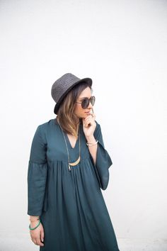 Dark Green Maxi Dress | Bohemian Dress | Boho Style | She inside |